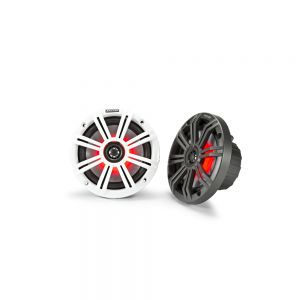 """KA45KM654L KM Marine 6.5"""" (165 mm) Coaxial Speaker System with White & Charcoal LED Grills Main Image"""